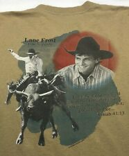 Vintage Mens XL 1989 80s Lane Frost Rodeo Cowboy Way Christian Religious T-Shirt