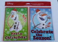 Disney Frozen Olaf Christmas Holiday Cards for Kids 6 Count Total - 2 Designs
