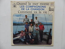 COMPAGNONS DE LA CHANSON Quand la mer monte 3998 DEDICACES  DE TOUS DERRIERE