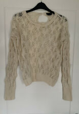 Topshop Cream Knitted Spring Jumper Size 8