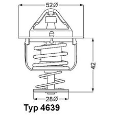 Thermostat, Kühlmittel WAHLER 4639.82D