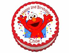 Elmo party decoration round edible party cake topper cake image