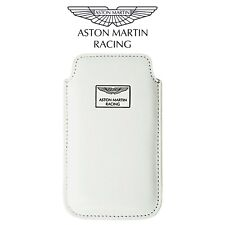 Aston Martin Racing Leather Official Chic Case Pouch White For Apple iPhone 4/4s