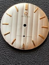 Vintage Rare Omega Dial 28MM Sliver Gold Markers Feet At 54 And 24 Minutes