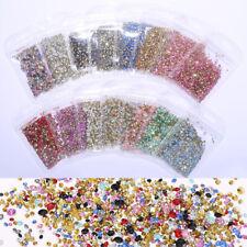 1000Pcs/Bag Irregular AB Colorful Nail Rhinestones Flat Bottom Nail Art Decor