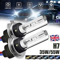 1 Pair 35W 55W H7 HID Xenon Headlight Replace Bulb Metal Base Lamp 4300K-12000K