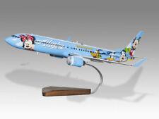 Boeing 737-900 Alaska Airlines Disneyland Handcrafted Solid Wood Display Model