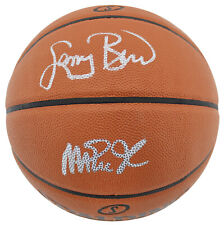 Magic Johnson & Larry Bird Authentic Signed Spalding Basketball BAS Witnessed
