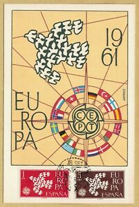 Maximumkarte Spanien Cept 1961