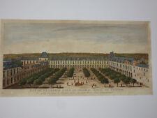 """"""" Vue De l'Hopital Royal De Bicestre """", Vue d'Optique 18ème"""