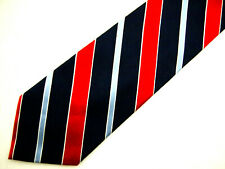 """Tommy Hilfiger Mens Necktie Tie Navy Blue Red White Striped 59"""""""