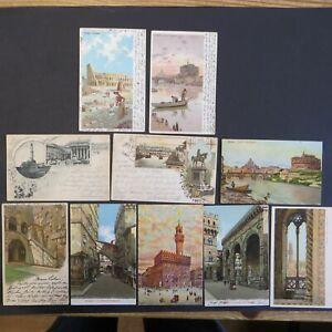 Sammlung Ansichtskarte Italien schönes Lot von 10 Karten Künstler meist Lithos