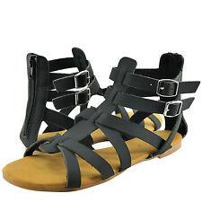 3b6829a37060 Women s Shoe Bamboo Dino 99S Open Toe Strappy Gladiatior Sandal Black  Nubuck New