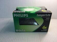 H4656 Philips Rectangular high/low beam 3 lug 12V Halogen