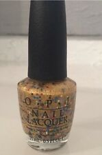 New OPI Nail Polish PINEAPPLES HAVE PEELINGS TOO 15ml .5oz Yellow Gold Glitter