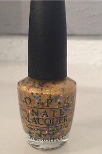 New OPI Nail Polish PINEAPPLES HAVE PEELINGS TOO 15ml .5oz Yellow Gold Glitter