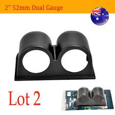 2x Black Car Motor Truck 2 Hole Dash Gauge Meter Pod Mount Holder 52mm AU STOCK