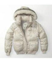 Abercrombie Puffer Jacket faux fur Hood Xs