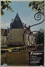 Affiche France Châteaux COMMARIN Côte d'Or - Ann.'60 Imp. Draeger - Tourisme