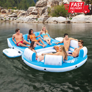 Inflatable Oasis Island 7-Person Pool Lake Relaxation Floating Lounge Water Part