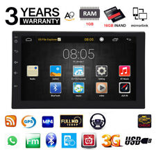 "7"" 2DIN Quad Core Android 6.0 3G WIFI Double Car Radio Stereo MP5 Player GPS XKS"