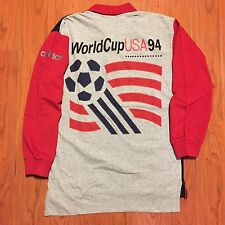 Vintage Rare Adidas USA Soccer World Cup 94 1994 Rugby Polo Shirt Boys L