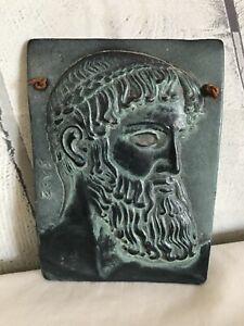 Green man wall plaque Repro Tile Jupiter of Istiea. Nice Detail. Terracotta