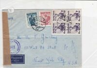 austria 1950 women different colour air mail stamps cover ref 21198