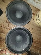 1PAIR USED EAW/ RCF L15P540 Professional 1000W  Woofer Speakers 8-ohms NICE!