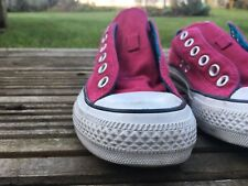 Men's or Women's Purple Maroon Red Blue Retro Converse Shoes Trainers Size 5