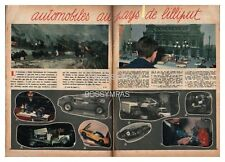 1961 DOCUMENT (ref Lim 653) AUTO : MINIATURE JOUET SALON DE PARIS  2pages