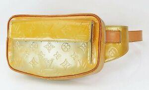 Auth LOUIS VUITTON Fulton Silver Vernis Leather Waist Bum Bag Pouch #40466A