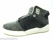 SUPRA SKYTOP III BLACK DISTRESSED CANVAS MEN SHOES SIZE 6