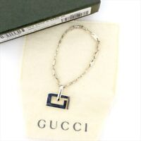 Gucci key ring Key holder G logos Silver Woman unisex Authentic Used T4413