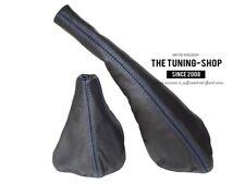For Seat Ibiza Cordoba 1993-1999 Gear & Handbrake Gaiter Leather Blue Stitching