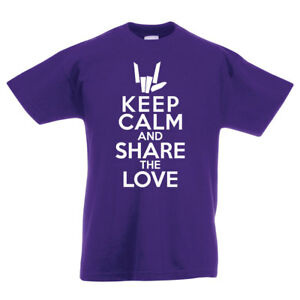 Keep Calm And Share The Love Fun Child's Youth YouTube Inspired T-Shirt