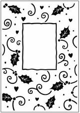 Crafts Too - Christmas Holly Frame - Embossing Folder - CTFD3034 - Free UK P&P
