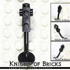 LEGO Minifigure BLACK Metal Detector no Stud on Search Head Beach Tool