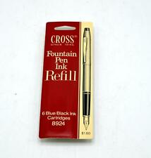 Vintage Cross Fountain Pen Ink Refill Cartridges - Blue Black Ink 8924