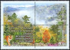 Russia 2008 Forest/Tiger/Nature/Cats/Trees/Wildlife/Conservation 3v blk (n28648)