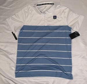 Men's UNC North Carolina Tar Heels Nike Striped Polo Large NWT $65