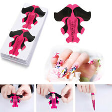 100pcs DIY Stiletto Butterfly Nail Art Forms Tip Extension Sculpting Acrylic New