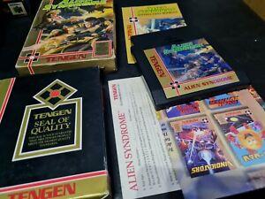 Alien Syndrome Tengen Nintendo NES Near Complete, Box Good Condition!