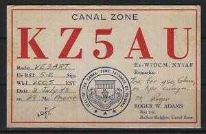 BALBOA HEIGHTS, CANAL ZONE KZ5AU QSL CARD
