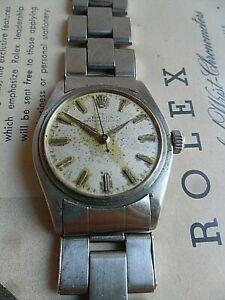 Stainless Steel Vintage 1958 Men's Rolex Speedking 17J Cal. 6420 Watch 4 REPAIR