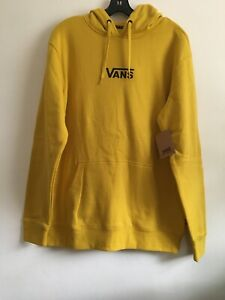 New Mens VANS Skater Long Sleeve Hoodie Pullover Sweatshirt Gold Size Medium
