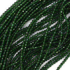 "2mm Faceted Green Emerald Quartz Round Beads 15.5"" Strand"