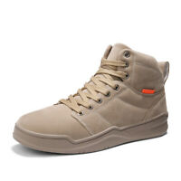 Men's Winter Snow Boots Non-slip High Top Sneakers Warm Cotton Shoes Big Size 46