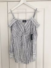 BNWT ASOS Parallel lines off the shoulder blouse in abstract spot size XS