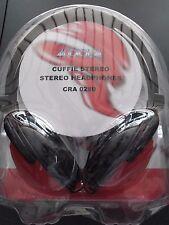 CUFFIA STEREO AUDIOLA CRA 0289 STEREO HEADPHONES JACK 3.5mm COLORE ROSSO NUOVO